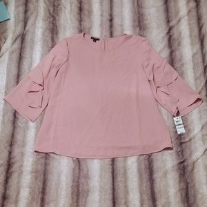 NWT Alfani Ruffle Sleeved Blouse